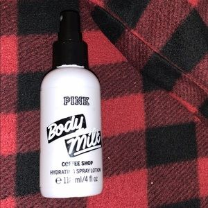 pink body milk hydrating spray lotion